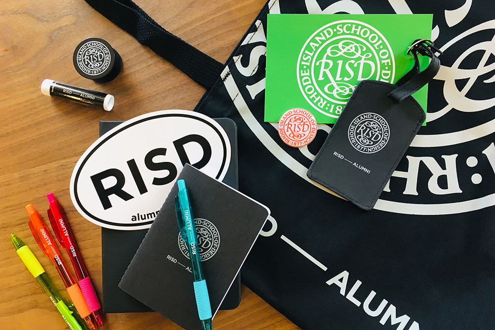 Photo of RISD swag.