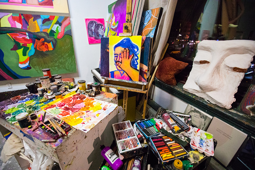 Photo of colorful studio.