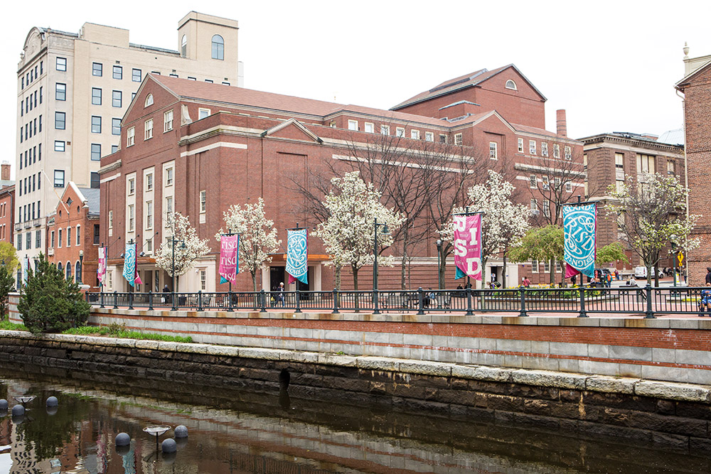 Photo of RISD auditorium in spring.