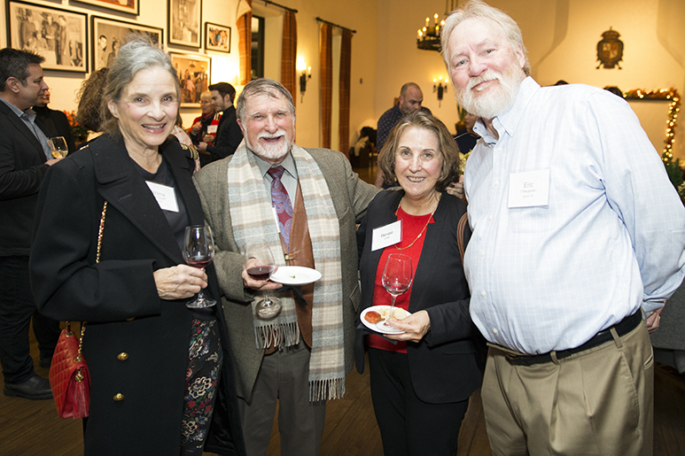 Photo of four alumni at the RISD in San Francisco reception