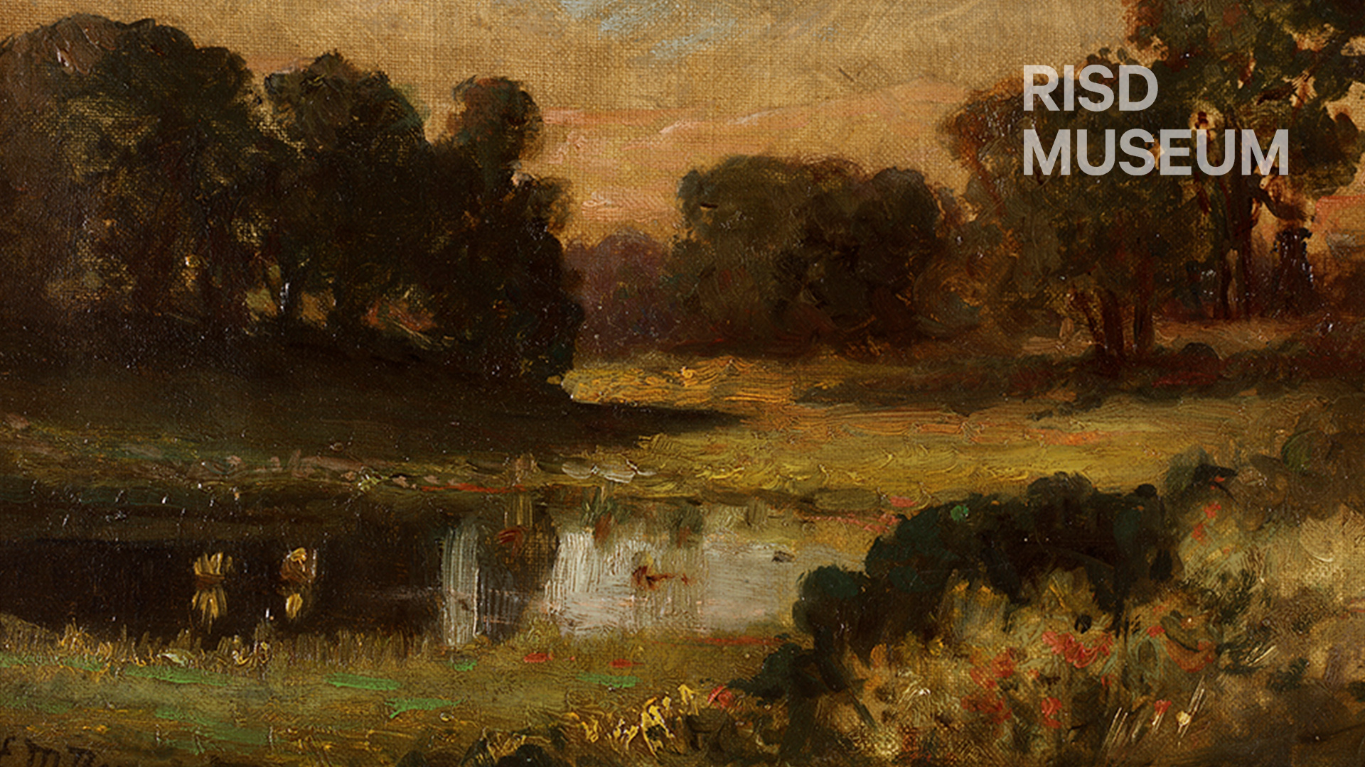 Zoom Background featuring At the Oakside Beach - Richard Mitchell Bannister